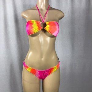 Zuliana Tye Dye Hot &  Sexy yellow & pink bikini